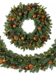 decorated artificial christmas wreaths home decorating interior