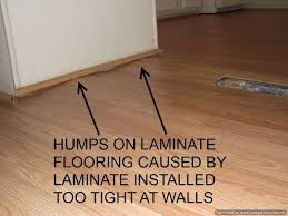 repairing hump on laminate floor