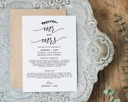 vistaprint wedding programs diy ceremony program etsy