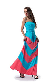 chevron maxi dress charm your prince women s sleeveless summer chevron empire zigzag