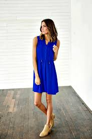 leah royal blue sundress from bella ella online store