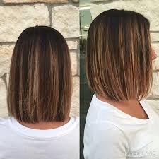 medium length hair with ombre highlights 9 simple blunt bob hairstyles for medium hair daily medium