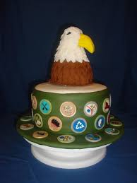 eagle cake topper badge winning boy scout cupcakes and cakes to celebrate