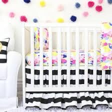 Black And White Crib Bedding Set White Baby Bedding Neutral Crib Bedding Rosenberry Rooms