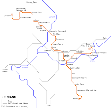map of le mans le mans tram map for free map of le mans tramway network
