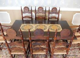 Spanish Style Dining Room Furniture Good Spanish Style Oak Tile Top Pedestal Table W 2 Leaves U0026 8