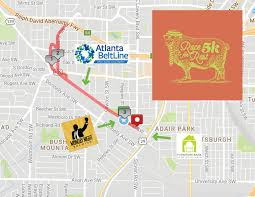 Atlanta Beltline Map 2017 5k Course Map U2022 The Furniture Bank Of Metro Atlanta The