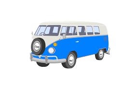 volkswagen beetle clipart blue camper van clip art at clker com vector clip art online