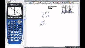 linear systems solving with graphing calculator graph and table methods you