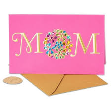 mothers day card papyrus pink s day card with gems target