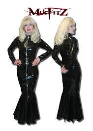 padlock strait jacket fishtail dress