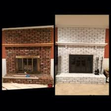 diy update your red brick fireplace white wash your brick using