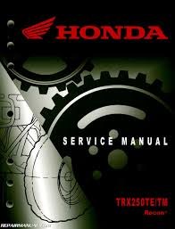 2005 2017 honda trx250te tm recon atv service manual 61hm860 ebay