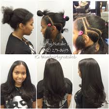 so natural looking and pretty traditional sew in hair weave by