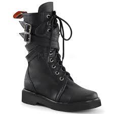 womens combat boots australia demonia rival 307 black 10 eyelet s combat mid calf boot