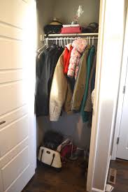how to diy coat closet shelves and decrease clutter the daily