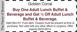 golden corral coupons u0026 discounts branson coupons and discounts