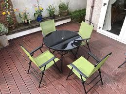 Very Garden Furniture Garden Furniture Set 6 Piece Table 4 X Chairs Parasol