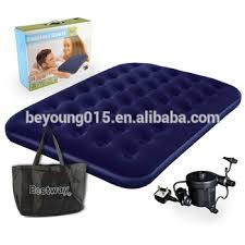 bestway flocked double airbed inflatable air bed mattress electric