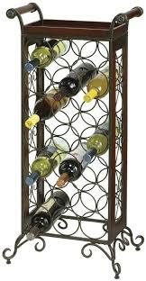 wrought iron metal wine rack howard miller wine butler 655 147