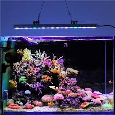 led aquarium lights for reef tanks 2017 wholesale 1000k white blue green uv full spectrum 22 inch 18x3w