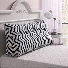 backrest pillow for bed cotton canvas printing long pillow seat cushion for bed backrest