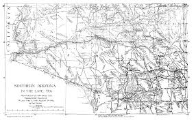 Map Of Arizona And California by The United States Army Fort Huachuca Az