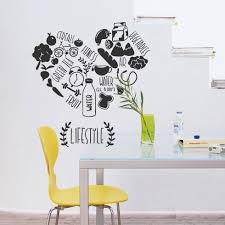 dining room decals creative kitchen vinyl wall decal kitchen lifestyle fitness