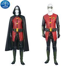 Halloween Robin Costume Aliexpress Buy Manluyunxiao Young Justice Cosplay Costune