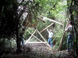 4x4 Elevators Deer Blind How To Raise A Deer Blind With A Four Wheeler Wench Youtube