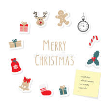 christmas and new year card template stock vector image 79442853