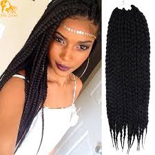 pre braided crochet hair 22inches box braids hair extensions synthetic pre braided 3s