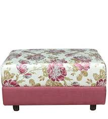 Floral Ottoman Colorado Fabric Floral Ottoman In Colour Greenscape Furniture