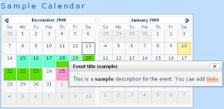 dreamweaver event calendar