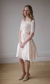 white lace dress with white lace overlay modest knee length dress your