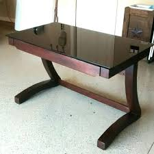 wood desk with glass top find more contemporary glass top desk by whalen for sale at up to 90