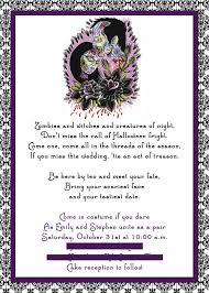 Samples Of Wedding Invitation Cards Wordings Vertabox Com Halloween Wedding Invitation Wording Vertabox Com
