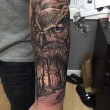 24 best quarter sleeve tattoos owl images on pinterest tattoo