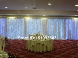 wedding backdrop size 3 12m big size wedding backdrop curtain with led light and