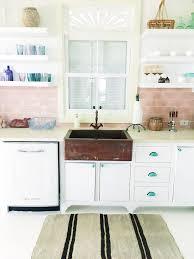retro kitchen furniture modern kitchen retro kitchen pink backsplash copper sink