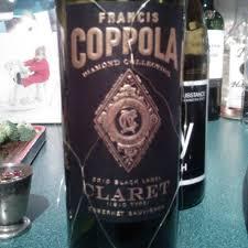 francis coppola claret 2010 francis ford coppola cabernet sauvignon diamond collection
