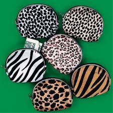 leopard print party supplies safari party animal print plush coin purse party favors