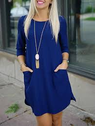 blue dress blue dress with pockets and half sleeves lyfie