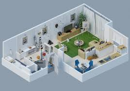 Apartment Designs Shown With Rendered D Floor Plans - Apartment design concept