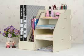 bureau diy high quality creative color office desk organizer wood cabinet