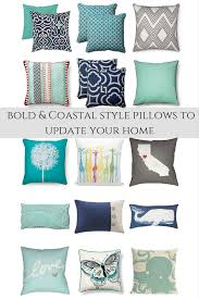 bold and coastal pillow ideas for the home u2022 our house now a home