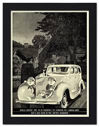 rolls royce vintage ap frame 2027 rolls royce vintage car advert framed print