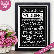 Photo Booth Sign Grab Prop Strike Pose Photo Booth Wedding Chalkboard Sign