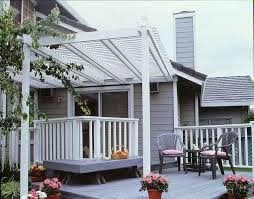How To Build A Wood Awning Over A Deck Fastening A Patio Roof To The House
