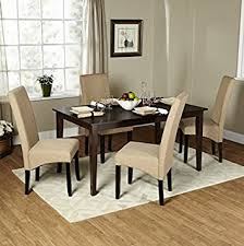 Amazoncom Simple Living Piece Brentwood Parson Modern Dining - Espresso dining room set